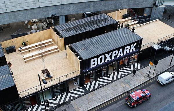 Boxpark Shoreditch – торговый центр в Лондоне. Источник фото: inhabitat.com