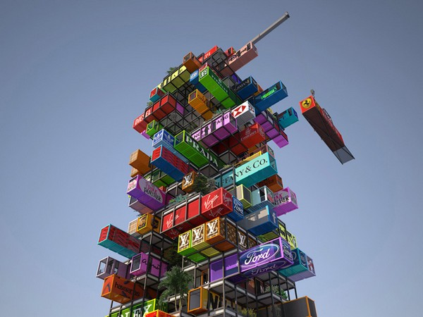 Hive-Inn – первый небоскреб из грузовых контейнеров. Источник фото: OVA Studio