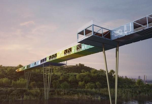 ECOntainer bridge – мост в Израиле. Источник фото: Yoav Messer Architects