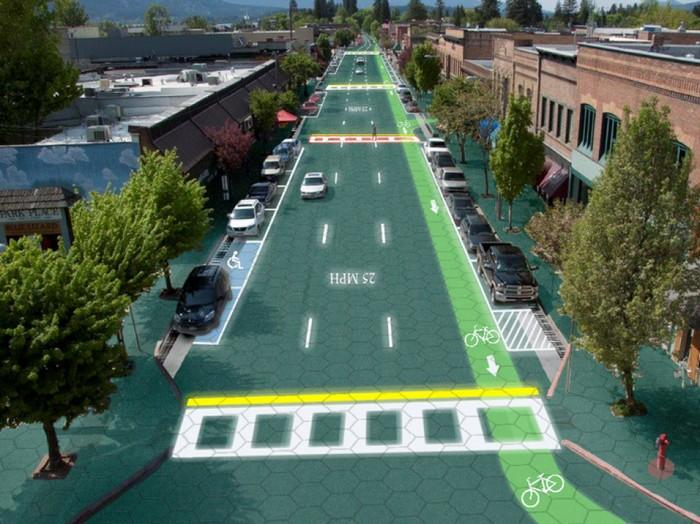 Умная дорога Solar Roadways, превращающая шоссе в зеленую электростанцию