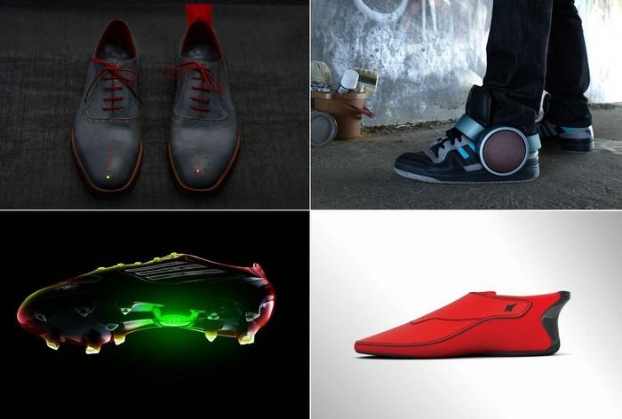 Самые необычные примеры умной обуви