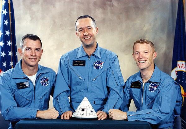 Команда Аполлон-1. Источник фото: Spacefacts.de