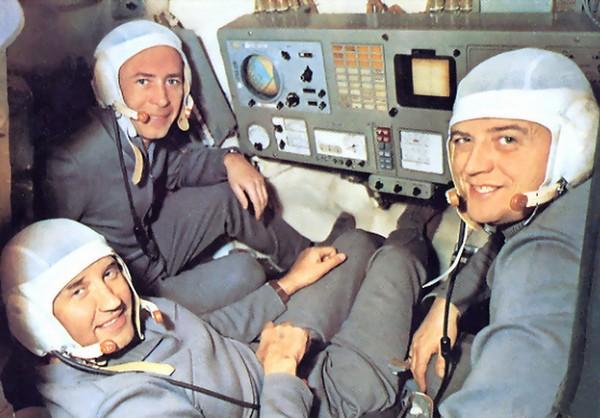 Команда космического корабля Союз-11. Источник фото: Spacefacts.de