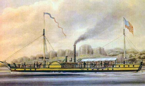 Clermont – первый пароход от Роберта Фултона. Источник фото: maritimetexas.net