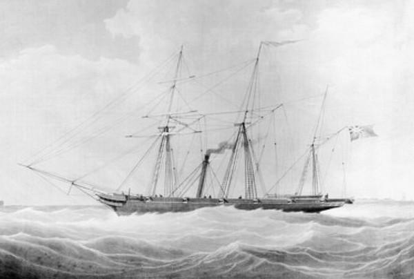 Архимед – первый винтовой пароход. Источник фото: blog.naver.com