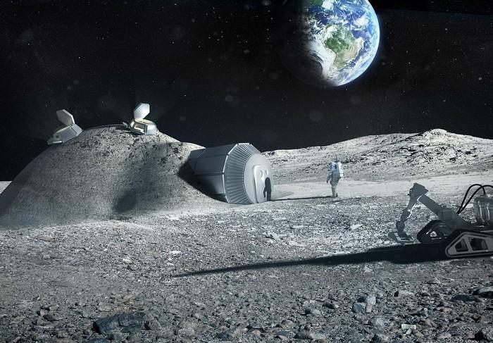 Завод по переработке фекалий на Луне