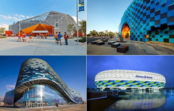 Самые стильные в мире стадионы
