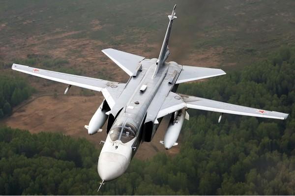 Бомбардировщик Су-24. Источник фото: Википедия