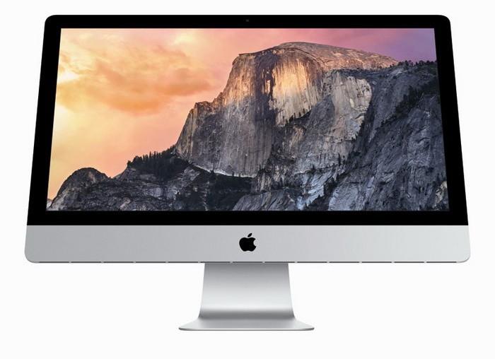 Современная модель компьютера-моноблока iMac