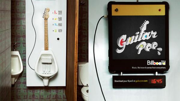 Guitar Pee – писсуар для музыкантов. Источник фото: designboom.com