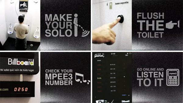 Пульт управления писсуаром Guitar Pee. Источник фото: designboom.com