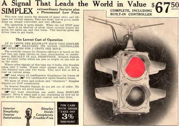 Объявление в газете о продаже первых электрических светофоров. Источник фото: kbrhorse.net