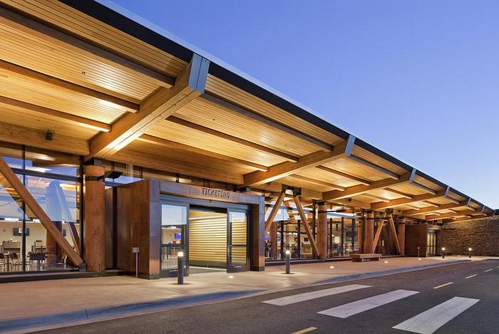 Jackson Hole Airport – деревянный аэропорт парка Йеллоустоун