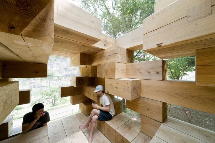 Final Wooden House – удивительный деревянный дом-конструктор от Sou Fujimoto