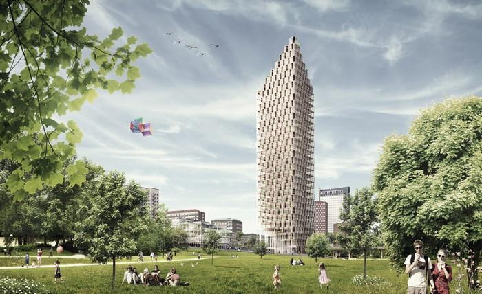 Big Wood – деревянный небоскреб в Стокгольме