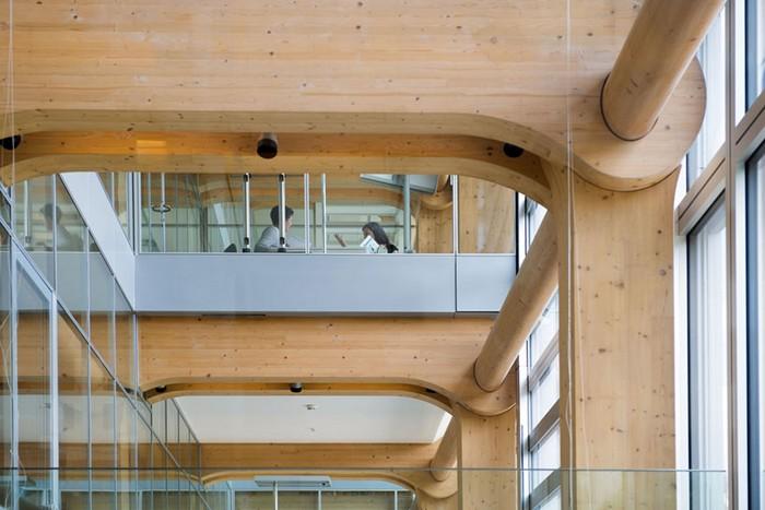 Деревянная штаб-квартира компании Tamedia в Цюрихе