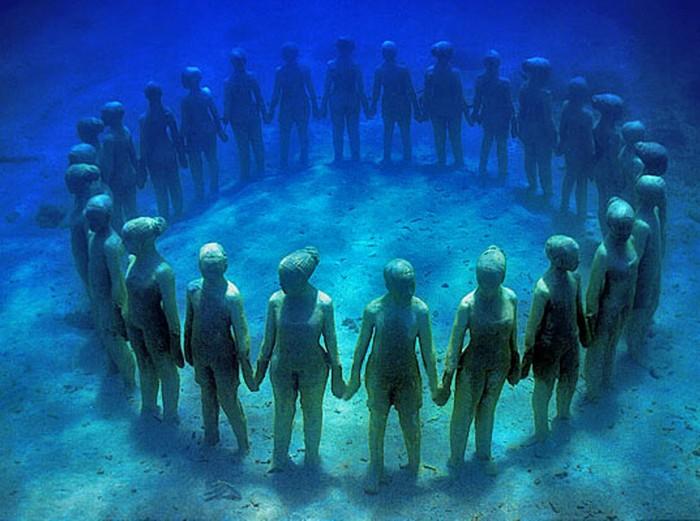 Подводный парк скульптур от Джейсона де Кайрес Тейлора