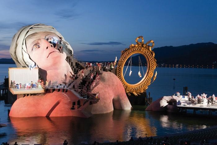 Плавающая оперная сцена в Брегенце