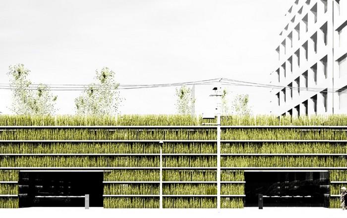 Shinjuku Gardens – самый зеленый в мире паркинг