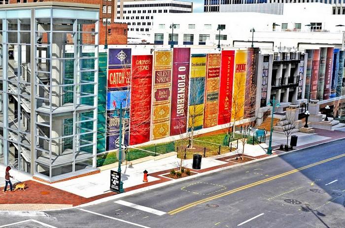 Книжный паркинг Общественной библиотеки города Канзас