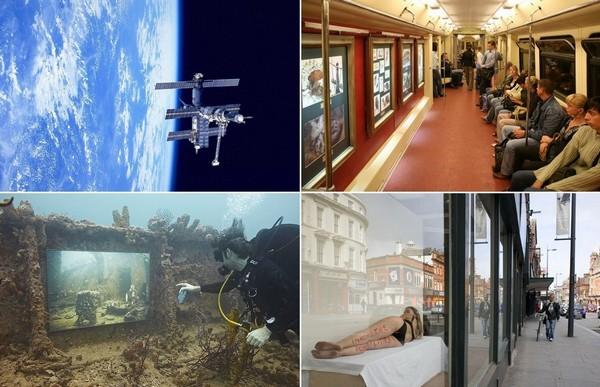 Художественные выставки в самых неожиданных и необычных местах