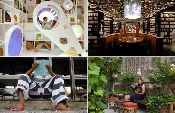 Необычные места для знакомства с книгами