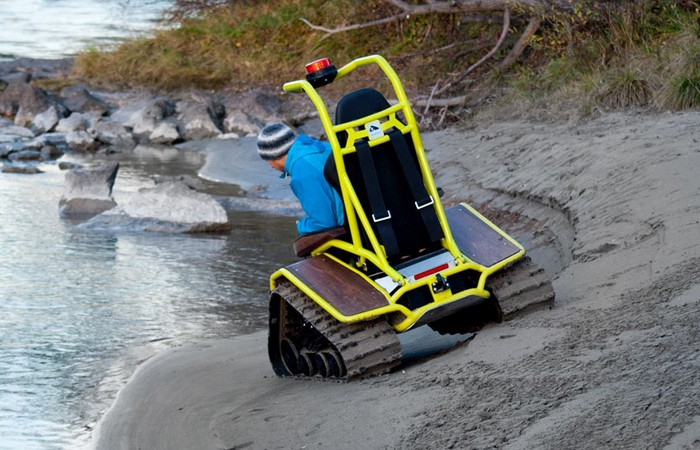 Ziesel – инвалидное кресло для гор и бездорожья
