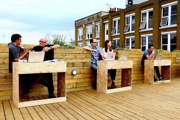 Roof Top Terrace – офис на крыше в центре Лондона