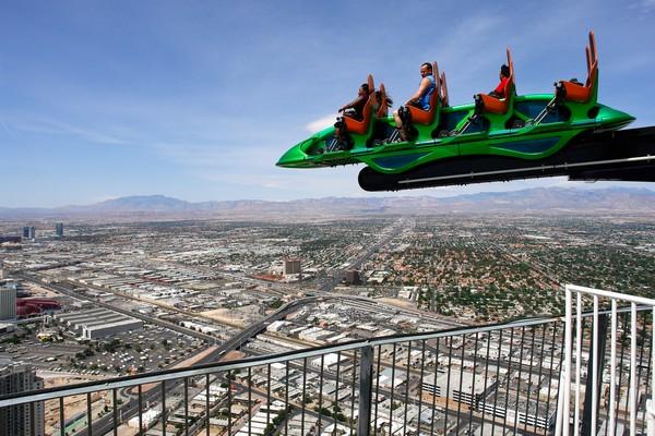 Парк аттракционов на крыше небоскреба Stratosphere в Лас-Вегасе