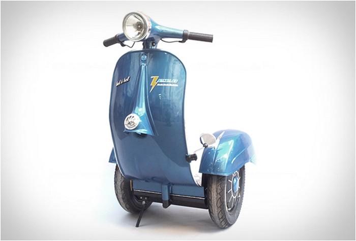Два в одном: легендарный мотороллер Vespa в стиле Segway
