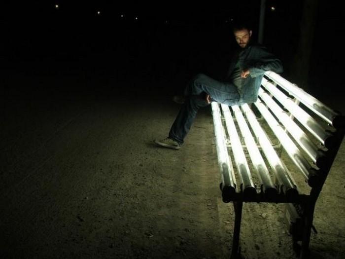 Уличная скамейка с подогревом