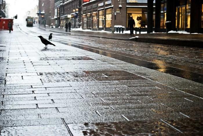 Тротуар с подогревом в Хельсинки