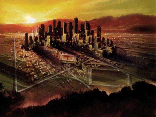 Эскизный набросок города IRTBBC. Источник фото: io9.com