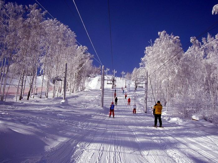 На горнолыжном курорте Абзаково