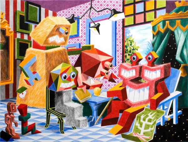 Французский живописец Christian Vallee (Kriki).