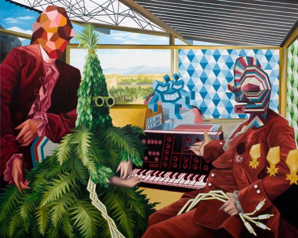 Французский художник Christian Vallee (Kriki) и его червячок.