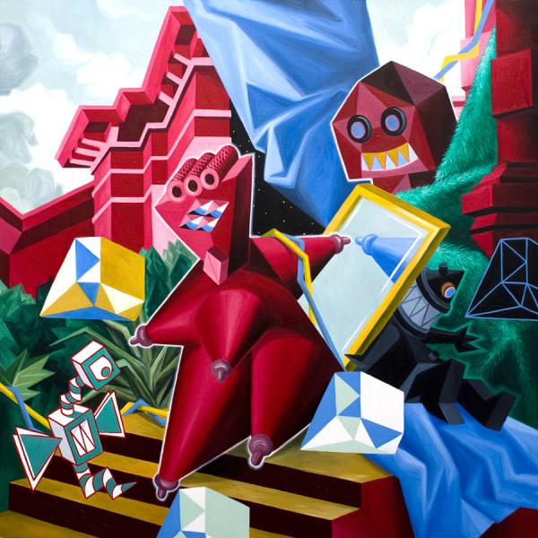 Christian Vallee (Kriki) любит геометрию и яркие цвета.