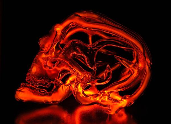 Неоновый череп