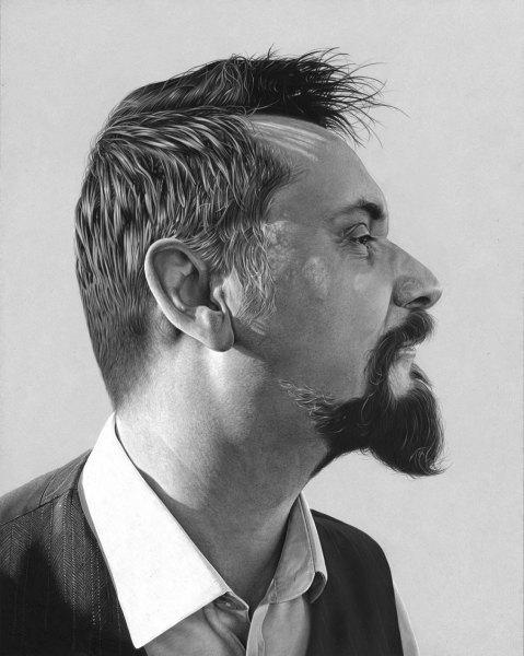 Steve Caldwell пишет уникальные портреты.