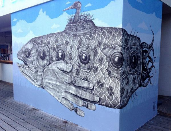 Уличный художник Алексис Диас (Alexis Diaz).