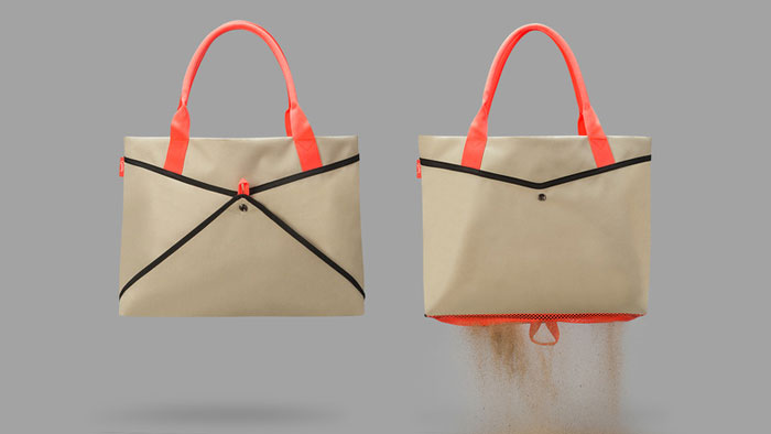 Пляжная сумка с двойным дном.