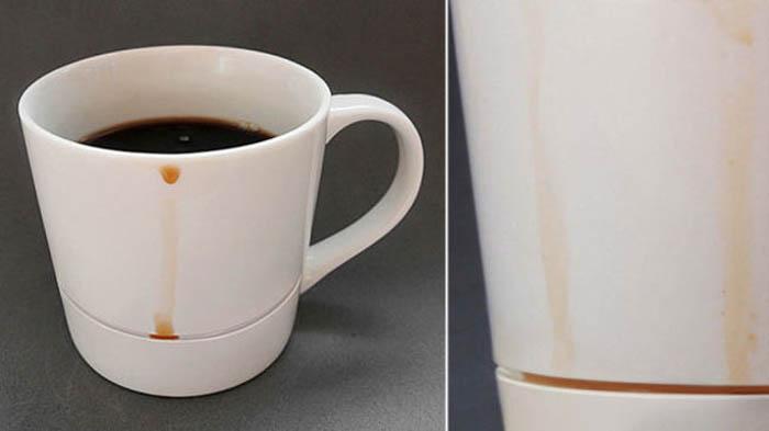 Чашка с бороздкой для капель.