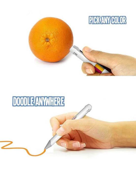 Ручка, сканирующая и записывающая цвет предмета.