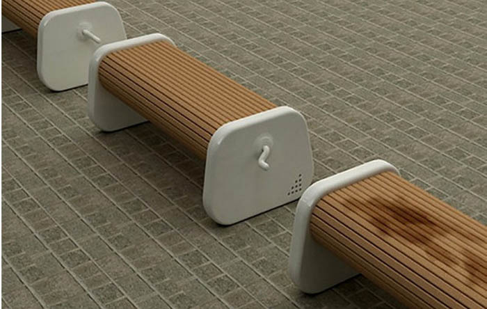 Скамейки с поворотным механизмом.
