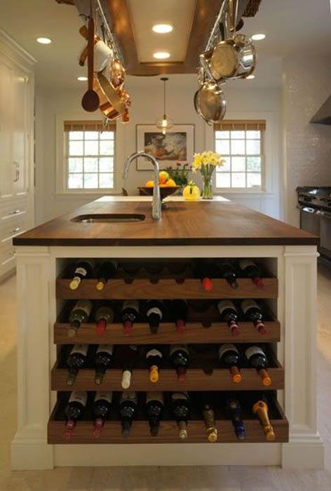 Хранилище для бутылок вина.