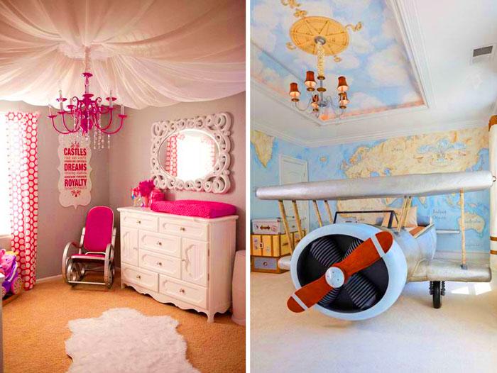 10 идей для декора потолка в детской комнате.