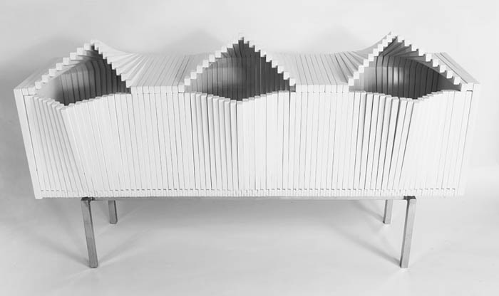 Комод в виде клавиш фортепиано Wave Cabinet.