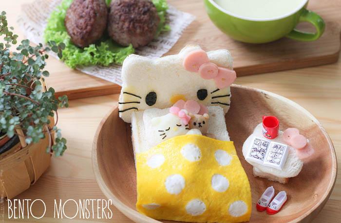 Hello Kitty из хлеба.