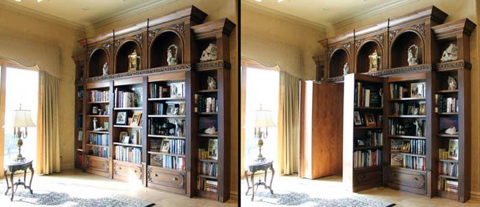 Библиотека с потайной дверью.