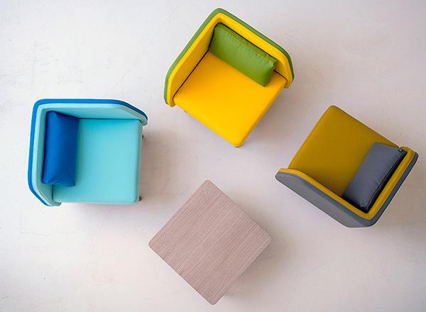 Оригинальные квадратные кресла от Two.six.